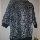 *~NWOT Vintage Black & Silver Knit top sz M