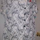 *~SALE!NWT Vintage Whirlaway Frocks Floral Filagree top sz 16P