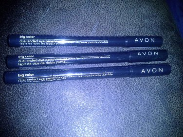 *~New Avon Big Color 2 in 1 Plum Perfection Eye Pencil/Crayon Lot of 3