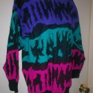 *~SALE!! Vintage Vtg 80's No Way L/S Sweater sz M UNISEX???