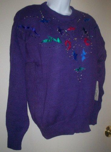 *~SALE!! Vintage Vtg 80's NWT Wye Oaks L/s Sweater sz M