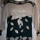 *~SALE!! Vintage Pretty L/S Sweater W/ Faux Pearls sz S