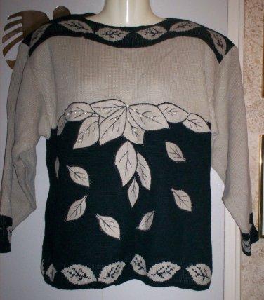 *~SALE!! Vintage Pretty L/S Sweater W/ Faux Pearls sz S