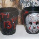 *~ NEW Friday The 13th 3D JASON VOORHEES SHOT GLASSES Lot of 2