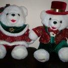 "*~GC Dan Dee 2003 22"" Christmas Snowflake White Mr & Mrs Teddy Bears"