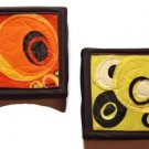 *~NEW Contemporary Home Threads Mellow Yellow and Orange Crush Wall Decor