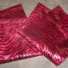 """*~2 New Red Velvet & Foil Zebra Print Throw Pillow Cases/Covers 17""""x17"""""""