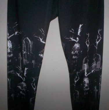 *~SALE! NWT Silent + Noise Graveyard Black Leggings sz S