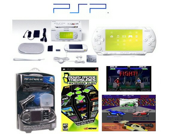"Sony PSP ""Limited Edition"" Ceramic White ""Holiday Value Pack"" - 21 Games + PSP Car Kit"