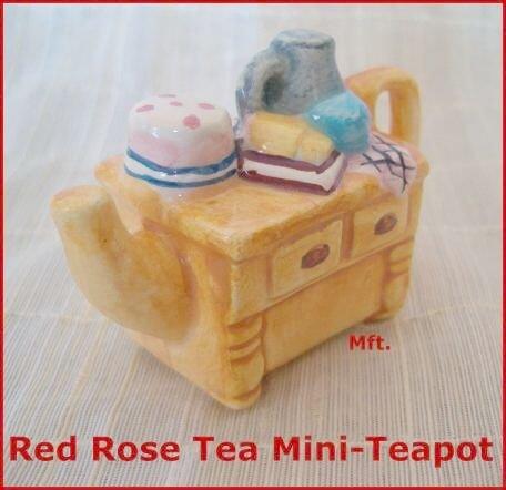 Canadian Red Rose Tea Mini-Teapot  --Yellow Cupboard
