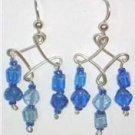 3 Drop Diamond blue beads