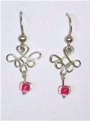 5 small loops and pink beads