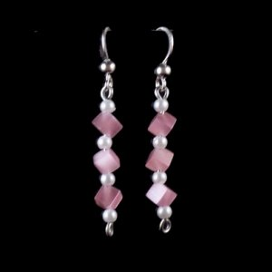 pink cubes and pearls