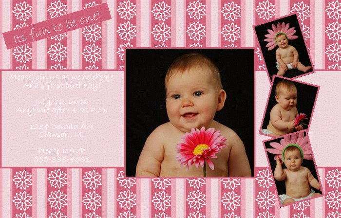 Ana Customizable Photo Invite