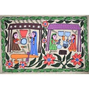Mithila Hand Painting from Nepal ( folk art)