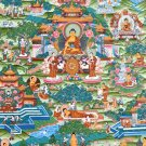 Thangka Painting Gautama Buddha Life Story from Nepal