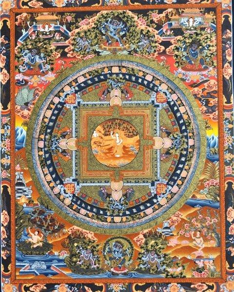 Gautama Buddha Life Story Mandala Thangka Painting