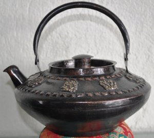Copper Artistic Tea Pot (Kettle) from Nepal