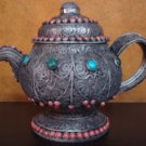 White Metal Tea Pot