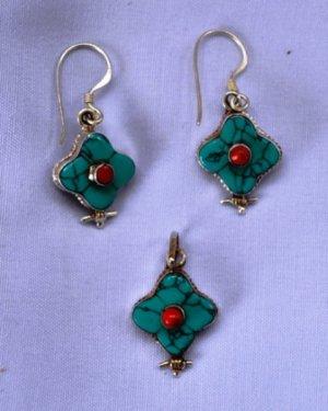 Small Blue Jewellery set