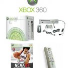 "Xbox 360 ""Premium Gold Pack"" Video Game System With NCAA March Madness 07 And DVD Remote"