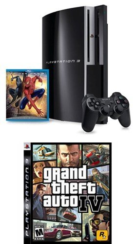 PlayStation 3 40GB w/ Bonus Spider-Man 3 (Blu-ray) and Grand Theft Auto IV (PS3)
