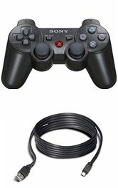 PS3-SIXAXIS - Sony Sixaxis Wireless Controller (PS3) with Charge Cable for PS3