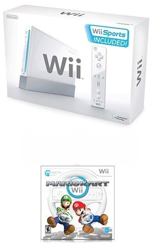 Nintendo Wii Sport Bundle - With 5 Great Sports Games AND Mario Kart