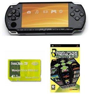 "Sony PSP ""Slim Giga Bundle"" - 21 Games and 1GB Memory Card (Black)"