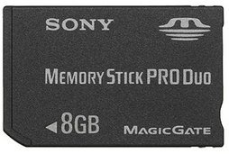 Sony 8GB Memory Stick PRO Duo� Media