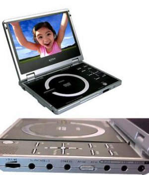 """Apex PD840 Portable DVD Player with 8"""" 16:9 Widescreen TFT LCD"""