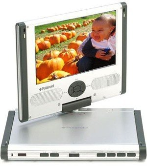 "Polaroid PDM-0752 SwivelScreen DVD Player 7"" widescreen (16:9) color LCD screen"
