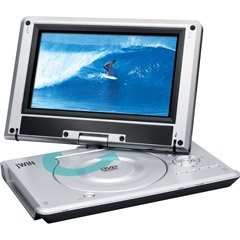 """JWin JDVD-762 9"""" Portable DVD Player with Swivel and SD� / MMC Card Slot"""