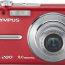 Olympus FE-280 8.0MP Digital Camera Red
