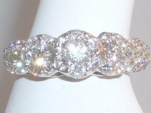 14k White Gold 1.25 ct Diamond Ring Size 7