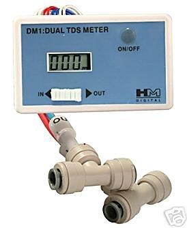NEW Dual Inline TDS meter Reverse Osmosis RO DI RODI