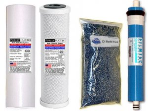 RODI Filter Set Sed/Carb/DI Bag 100 GPD Membrane