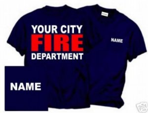 Personalized Firefighter T-shirt Fire Department Uniforms -  Father's Day