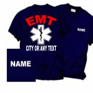 Personalized EMT logo Firefighter T-shirt Fire Department Uniforms