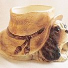 Inarco DOG UNDER HAT Planter Japan Vintage
