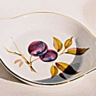 Royal Worcester EVESHAM GOLD Egg Dish Plum England