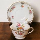 Noritake M Floral Cup & Saucer Occupied Japan