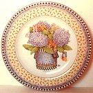 Debbie Mumm SPRING BOUQUET Salad Plate Hydrangea Floral Sakura