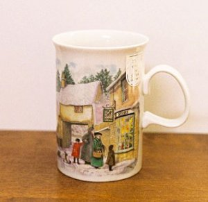 Dunoon Mug HOLIDAY VILLAGE Scotland Christmas