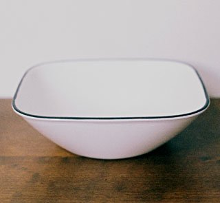 Corelle SIMPLE LINES Square Soup / Cereal Bowl Pair