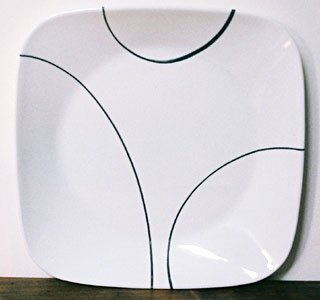 Corelle SIMPLE LINES Square Luncheon Plate
