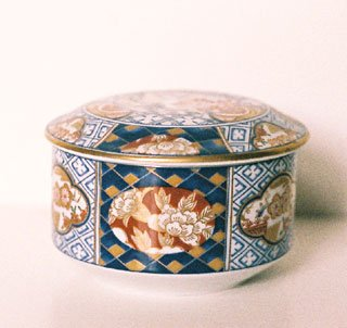 Otagiri ASIAN FLORAL Trinket / Powder Box Japan