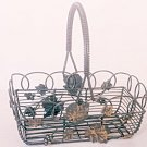 Decorative Metal Wire Basket Gray & Gold