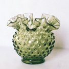Fenton Colonial Green HOBNAIL Posey Vase