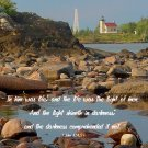 "Lighthouse**8""x10""**Matted Art***1John 1: 4,5"